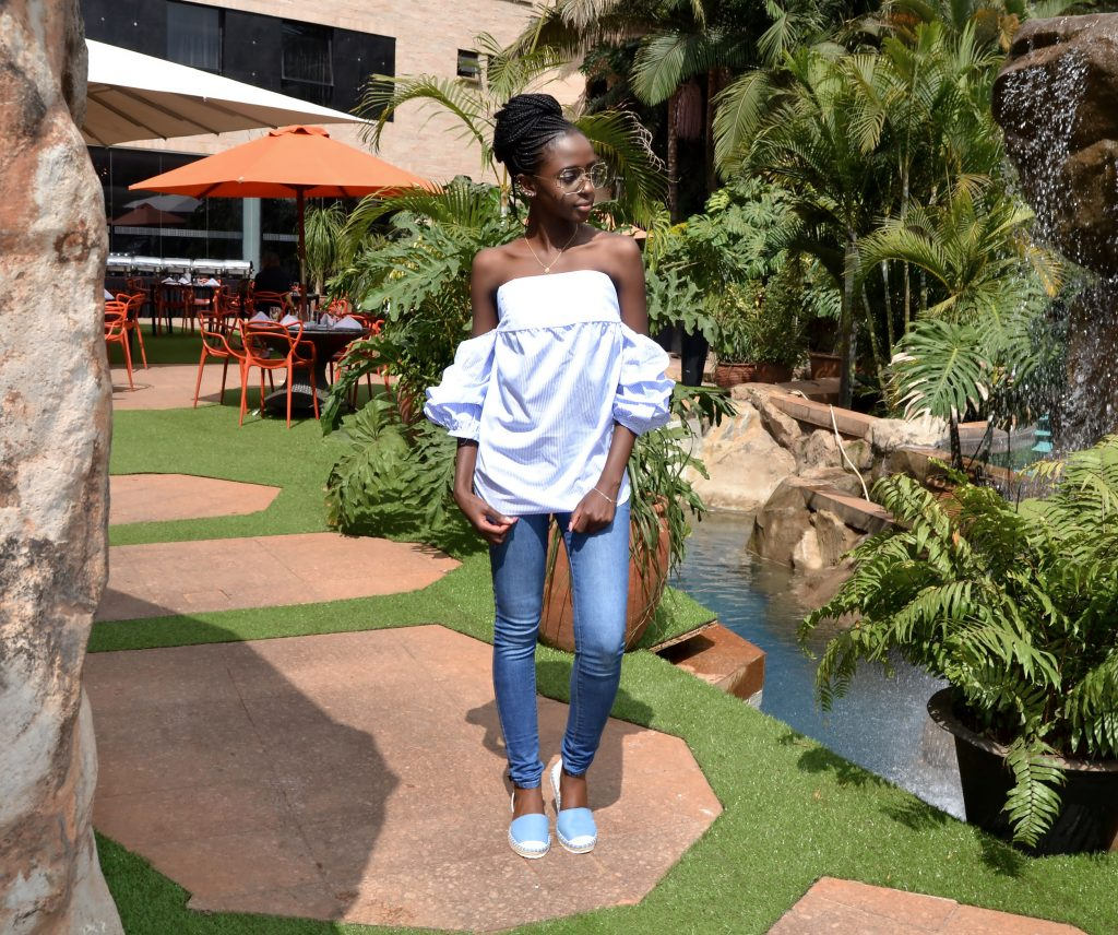 how to style an off-shoulder top
