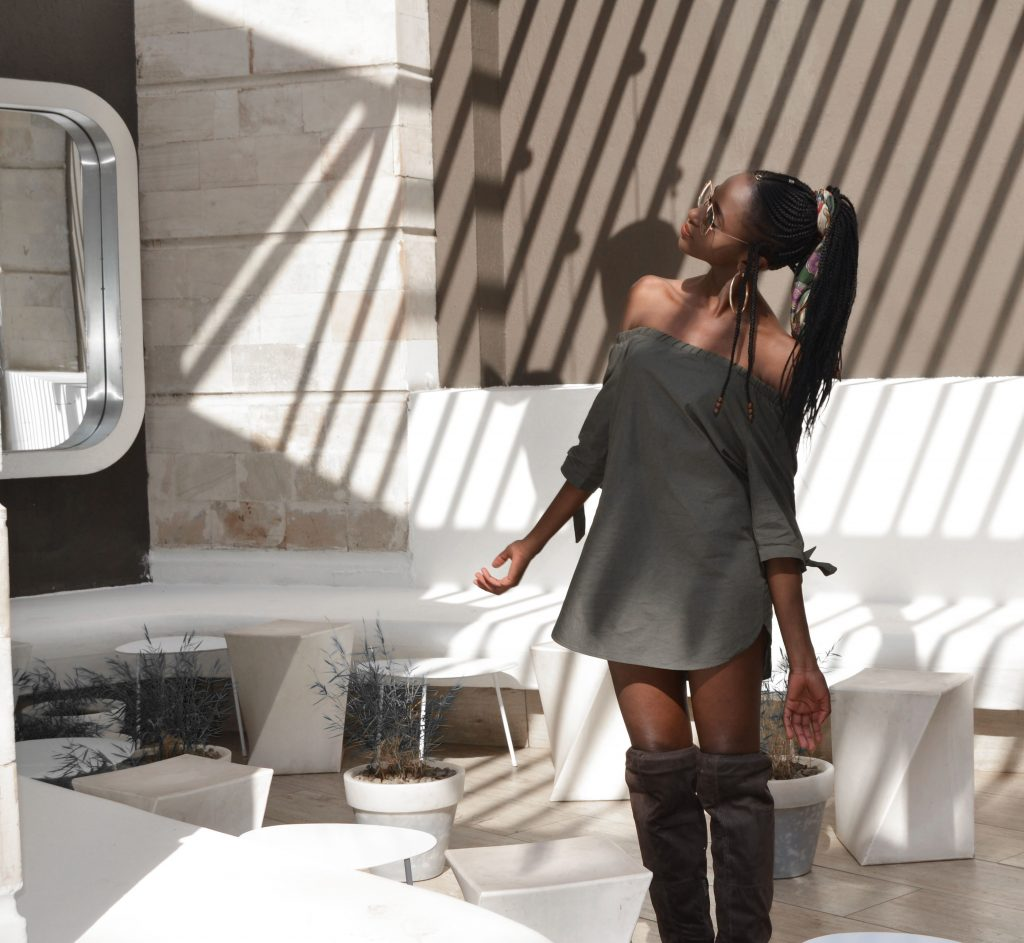 how to style an off shoulder dress